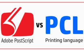 Sự khác biệt giữa trình điều khiển PostScript và PCL