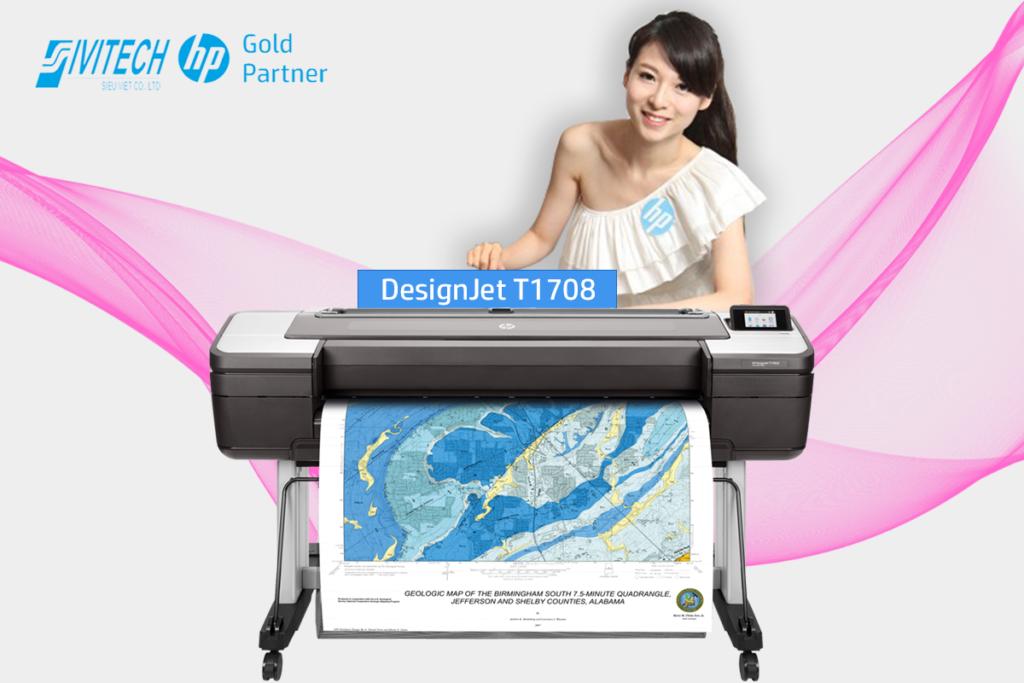 Báo giá máy in khổ lớn A0 HP Designjet T1708