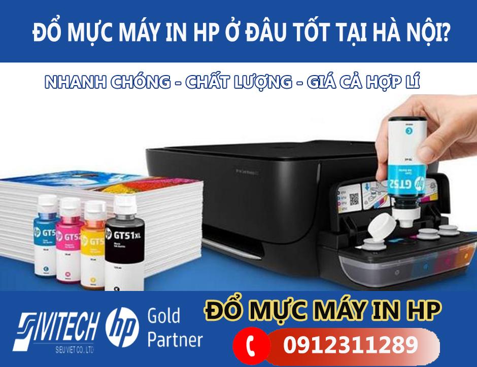 Đổ mực máy in HP giá bao nhiêu?