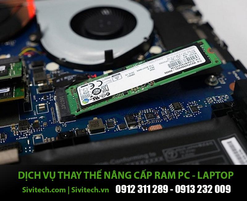 Dịch vụ thay thế nâng cấp RAM cho PC Laptop tại nhà